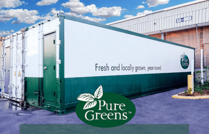 A Pure Greens Container Farm