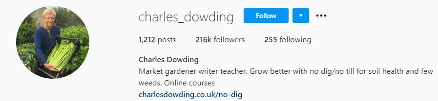 Farming Instagram Account Charles Dowding