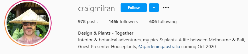 Farming Instagram Account Craig Milran